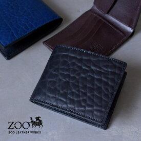 ZOO(ズー) ブルハイドレザー 牛革 メンズ 2折財布 zbf-015