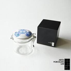 有田焼 和食器 JAPAN BLUE キャニスター 陶器 ガラス 密閉保存瓶 古伊万里草花紋 ブルー 化粧箱 食器 プレゼント 有田焼 アリタポーセリンラボ