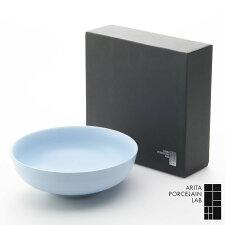 和食器中鉢STANDERD丸菓子鉢20cmパールブルー化粧箱和モダンブランド食器食器ギフトサラダボウルアリタポーセリンラボ