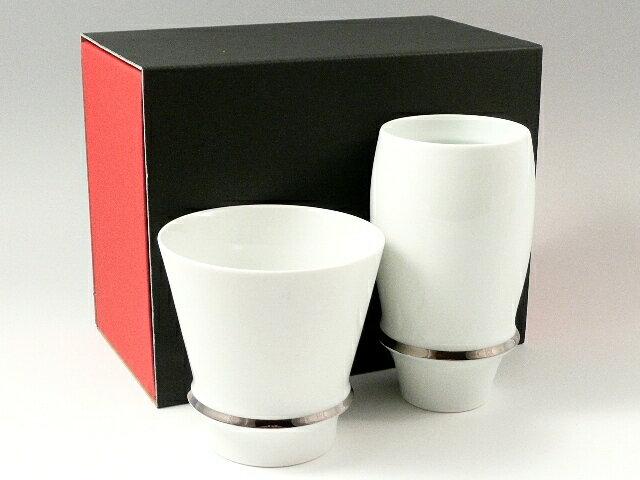 有田焼 匠の蔵 睦峯 エンゼルリング 至高の焼酎グラス・プレミアムビアグラスセット