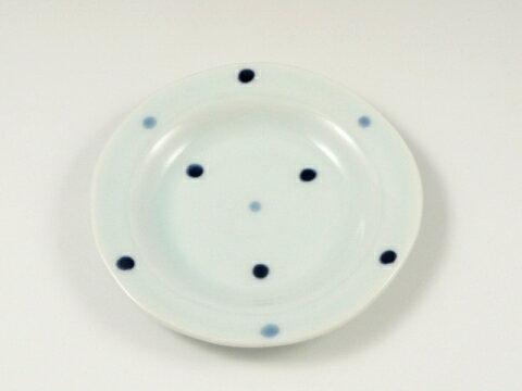 有田焼 副武窯 水玉リム付 4寸皿