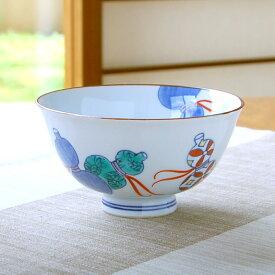 茶碗 和食器 有田焼 波佐見焼 鍋島六瓢(青)
