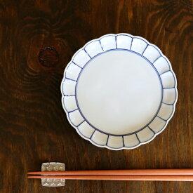 取り皿 おしゃれ 有田焼 波佐見焼 かわいい 和食器 染付ふちどり線 赤絵ふちどり線 菊割5寸皿