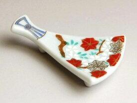 箸置き おしゃれ かわいい 食卓の彩りにワンポイント 有田焼 波佐見焼 錦雲錦 扇型箸置
