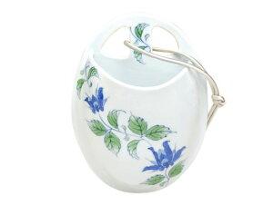 一輪挿し 花瓶 陶磁器 かわいい 有田焼 波佐見焼 藍彩唐草掛け花入 大