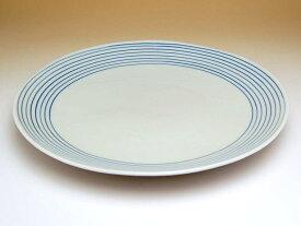和食器 おしゃれ かわいい 有田焼 波佐見焼 大きめのお皿 二彩千筋 8寸皿