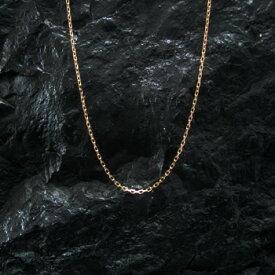アリゾナフリーダム シルバーアクセサリー ネックレス 【NO.10】 小豆微細 ゴールド チェーン 40cm (アジャスター付) 素材: K18 【NecklaceChain】【GOLD】