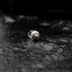 ピアス 【NO.3】 ゴールド付 太陽神 打込 ボール ピアス 素材: SV925 K18