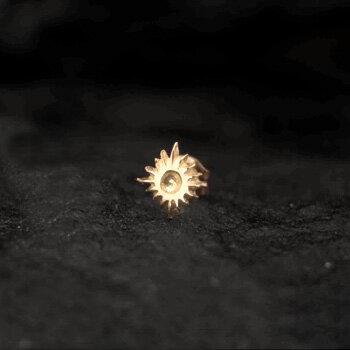 アリゾナフリーダム シルバーアクセサリー ピアス 【NO.9】 ゴールド 小太陽神 ピアス 素材: K18 【Pierce】