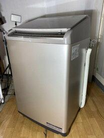 【中古】2018年製 日立10kg ファミリー用 大型 洗濯機 乾燥機能付き BW-DV100C ヤマトでの発送のみ!
