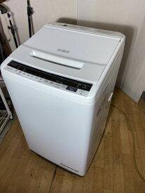 【中古】2020年製 日立 HITACHI 7kg ファミリー用 大型 洗濯機 BW-V70E