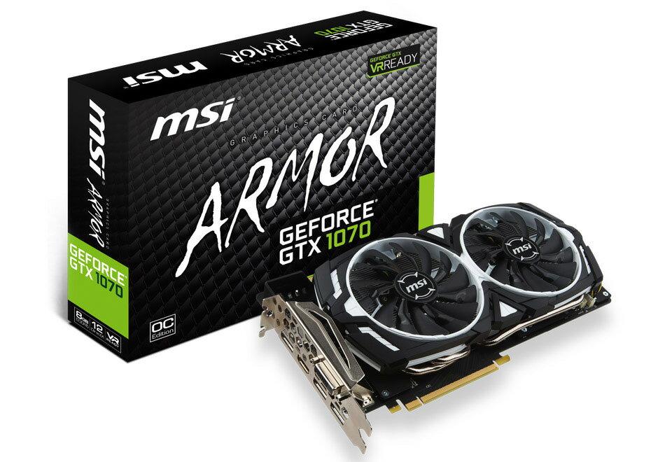 【送料無料】MSI GeForce GTX 1070 ARMOR 8G OC 正規代理店保証付 vd6083