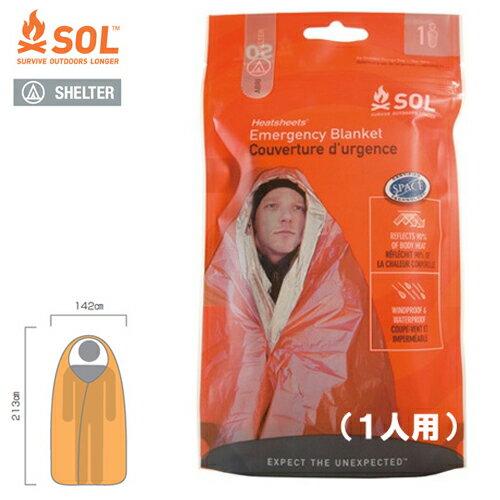 SOL エスオーエル ヒートシート エマージェンシー ブランケット(1人用)Emergency Blanket 登山・アウトドア・非常用ブランケット 防災グッズ【ゆうパケット便で送料無料(4個まで)】