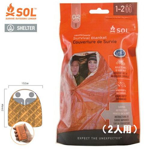 SOL エスオーエル ヒートシート サバイバル ブランケット(2人用) 2-Person Survival Blanket 登山・アウトドア・非常用ブランケット 防災グッズ【ゆうパケット便で送料無料(4個まで)】