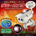 人感センサー 明暗センサー ソーラーバッテリー付 防雨タイプ ダミーカメラ「OS-173F」