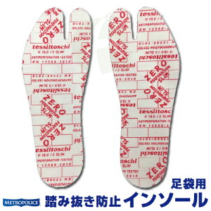 ZeroSlimゼロスリム中敷き足裏保護踏み抜き防止足袋インソール足袋用ZEROSLIM-TB