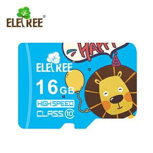 ELETREE class10 Highspeed UHS-I U3 SDHC microSDカード ライオン 16GB Cartoon lion 16G ET-16MS-BL