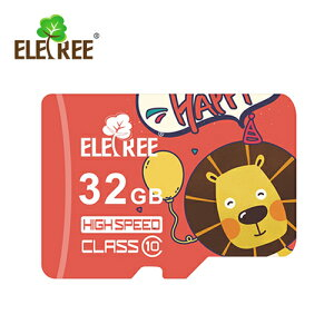 ELETREE class10 Highspeed UHS-I U3 SDHC microSDカード ライオン 32GB Cartoon lion 32G ET-32MS-RD