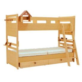 【送料無料】奥行スリムなマンション対応型2段ベッドロフトベットにもなる優れもの・下段ガート・スノコ外す