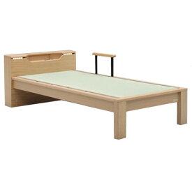 【安心・安全】床面高2段階調整・国産本畳使用!キャビネットシングルタタミベッド【YDKG-f】 02P12Jun12