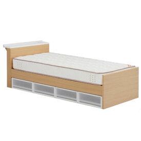 【送料無料】棚奥行150mm・マット付きシングルベット床面高4段階調整可能【smtb-f】【koshin0601】