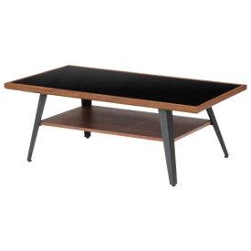 【interior送料無料】【木製カジュアルリビングテーブル!】天板5mm強化ガラス