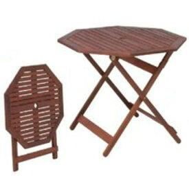 【送料無料】木製八角ガーデンテーブルパラソル穴付50mm【smtb-f】【koshin0601】