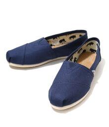 結束之前!TOMS SHOES[湯姆鞋]/WOMENS ORIGINAL CLASSICS-Navy Canvas-(女子的鞋鞋湯姆懶漢鞋)001001B07