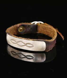 在结束了! 美国原住民珠宝美国本土珠宝和杰克沃克手镯当代 (皮革手镯纯银) jw-br-c-1