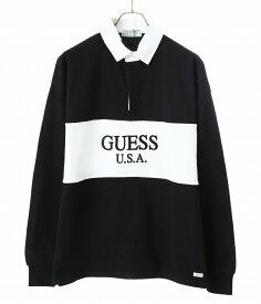 【アウトレットキャンペーン!】GUESS GREEN LABEL / ゲス グリーン レーベル : 2Tone Rugby Shirt / 全2色 : 2トーン ラグビー シャツ メンズ : GRSS19-003 【WAX】