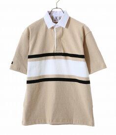 【期間限定送料無料!】BARBARIAN / バーバリアン : BSS S/S : ラガーシャツ 半袖 カットソー メンズ ショートスリーブ メンズ : 1538799-STN-1901 【STD】