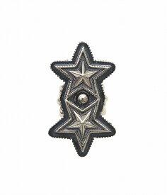 【サマーキャンペーン!】CODY SANDERSON / コディ サンダーソン : Double Sheriff Star -リング- : コディ サンダーソン バングル シルバー アクセサリー : C2-01-005 【RIP】