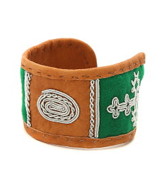 【ウィンターキャンペーン!】MARIA RUDMAN / マリアルドマン : AUthentic Sami pewterembroidery reindeerhide Bracelets : ブレスレット レザーブレスレット サーミ : SAMI-L-ANN-GRN 【RIP】