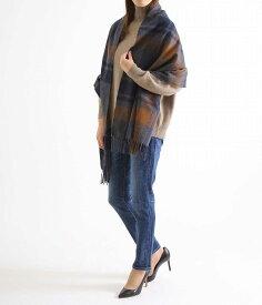 BEGG & CO / ベグ スコットランド : <Tartan MUFFLER Jura Clova(65cm×180cm)>-Vicuna- : マフラー ストール タータンチェック ウール フリンジ レディース : clova-65【ANN】