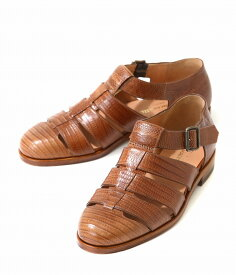 F.lli Giacometti / フラテッリ ジャコメッティ : グルカサンダル -Tejus/Marrone- / 全2色 : グルカサンダル テジュウ サンダル 靴 レザー 本革 スコッチグレインレザー イタリア 定番 メンズ : FG166-TEJUS-MARRONE 【MUS】