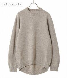 crepuscule / クレプスキュール : 【別注】wholegarment C/N pullover / 全2色 : クレプスキュール ホールガーメント プルオーバー ニット 長袖 メンズ : 1903-027 【COR】【REA】