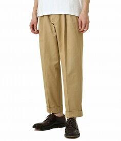 Scye / サイ ベーシックス : San Joaquin Cotton Chino Pleated Trousers : サン ホアキン コットン チノ プレーテッド トラウザーズ メンズ : 5120-81516 【MUS】