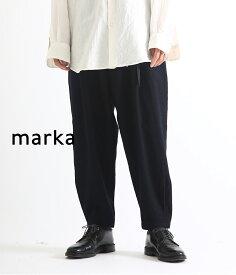 【ポイント10倍対象商品】【期間限定送料無料!】marka / マーカ : STRAIGHT TUCK PANTS - WOOL VIYELLA FULLING - / 全2色 : マーカ ロングパンツ ストレートタックパンツ ウールビエラフリング タックパンツ イージーパンツ : M18C-15PT01C 【COR】【WIS】