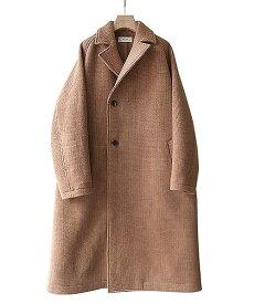 ■【予約商品 2019年10月〜12月入荷予定】WELLDER / ウェルダー : Double Breasted Balmacaan Coat : ※入荷時カラー確認 ダブル ブレマカーン コート メンズ : WM19FCO03【NOA】