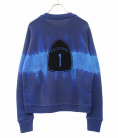 The Elder Statesman / ジ エルダー ステイツマン : Regular Sweater Intarsia Back Dyed : レギュラー セーター インターシャ バック ダイ : RIS10BD 【RIP】