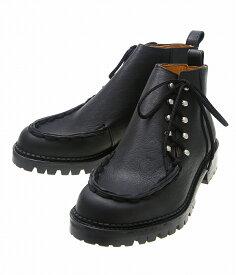 【期間限定送料無料!】Hender Scheme / エンダースキーマ : full lace trek hi -black- : エンダースキーマ フルレース トレック ハイ レザーシューズ 革靴 : is-s-flh【RIP】
