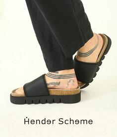 Hender Scheme / エンダースキーマ : caterpillar / 全2色 : キャタピラー サンダル カマボコソール 牛革 メンズ レディース : de-rs-cat 【RIP】【ANN】【BJB】