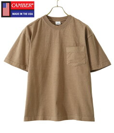 CAMBER / キャンバー : 【別注】8oz MAX WEIGHT POCKET T-SHIRT(S、M、L、XLサイズ) : 8オンス マックスウェイト ポケット ティーシャツ 別注 カットソー メンズ : CB190RT12220【AST】