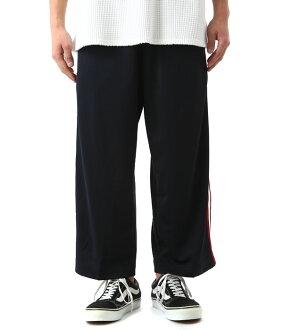 VOTE MAKE NEW CLOTHES [ヴォートメイクニュークローズ] / SIDE LINE JERSEY WIDE PT (ボートヴォートメイクニュークローズサイドラインジャージージャージワイドパンツ) 17SS-0030