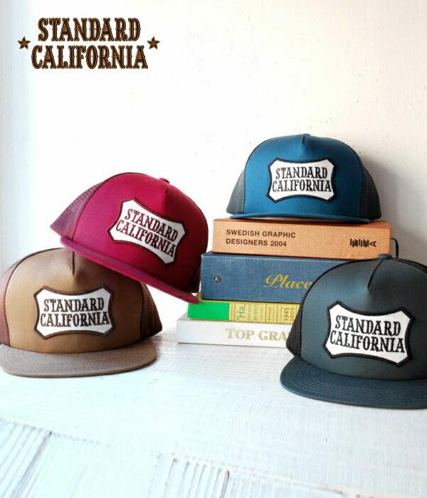 【SALE/セール】STANDARD CALIFORNIA / スタンダードカリフォルニア スタカリ : SD Twill Logo Wappen Mesh Cap / 全4色 (スタンダードカルフォルニア スタカリ メッシュキャップ 帽子 ロゴ ワッペン メンズ ユニセックス) 17SS-1【PIE】