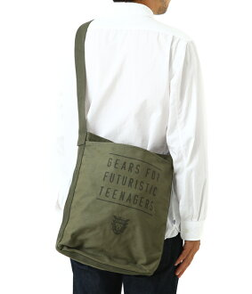 HUMAN MADE (human made) and CANVAS SHOULDER BAG (bags canvas shoulder bag) HM12GD007