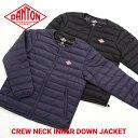 DANTON / ダントン : 【メンズ】CREW NECK INNER DOWN JACKET / 全3色 : インナー ダウン ジャケット アウター 軽量…
