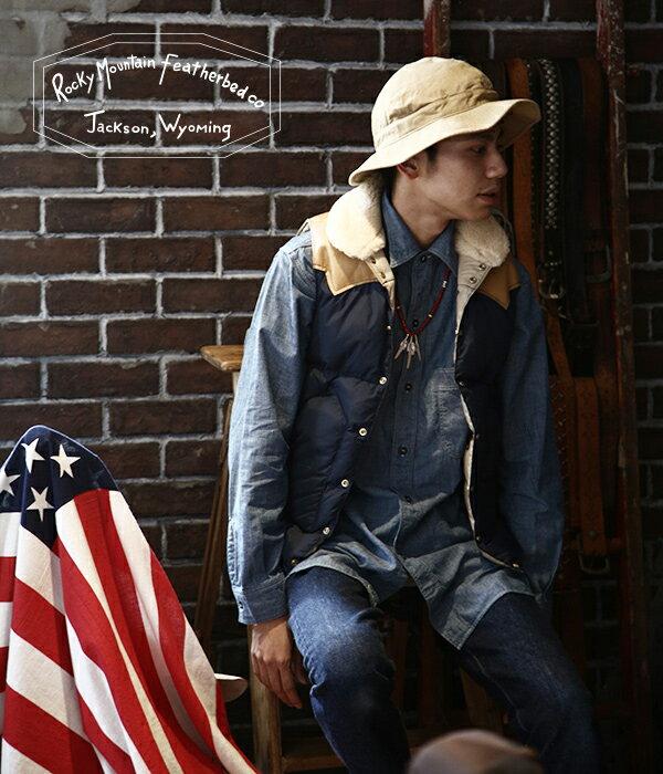 Rocky Mountain Featherbed (ロッキーマウンテンフェザーベッド) / Christy Vest -NAVY-(ダウンベスト ロッキー ベスト ロッキーマウンテンダウンベスト)200-172-02-NAV【STD】
