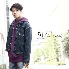 orSlow / オアスロウ : PLEATED FRONT BLOUSE -1YEAR WASH- : オアスロウ Gジャン デニムジャケット ワンイヤーウォッシュ : 03-6011-82【STD】