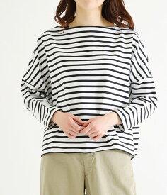 【サマーキャンペーン!】Traditional Weather Wear / トラディショナルウェザーウェア : BIG MARINE BOATNECK SHIRT / 全2色 : ビッグ マリン ボートネック レディース : L191HJPO0011KS【ANN】